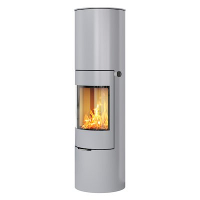 Rais Viva 160L Wood Stove Silver Metal Framed Door Solid Sides