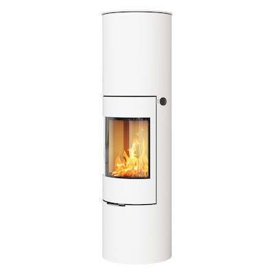 Rais Viva 160L Wood Stove White Metal Framed Door Solid Sides