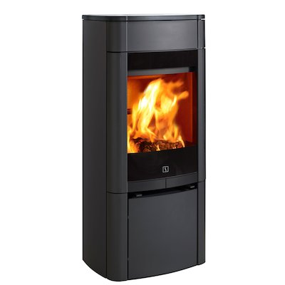Scan 65 Wood Stove Black Solid Sides
