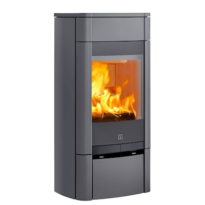 Scan 65 Low Wood Stove Grey Solid Sides