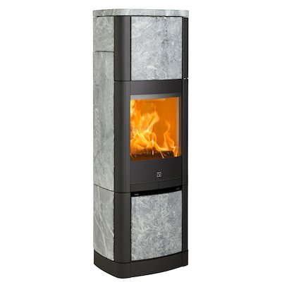 Scan 65 High Top Wood Stove Black/Soapstone Solid Sides