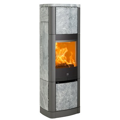 Scan 65 High Top Wood Stove Grey/Soapstone Solid Sides