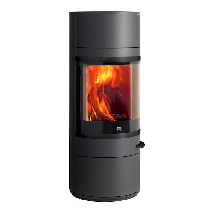 Scan 83 Wood Stove Black Black Trim - Black