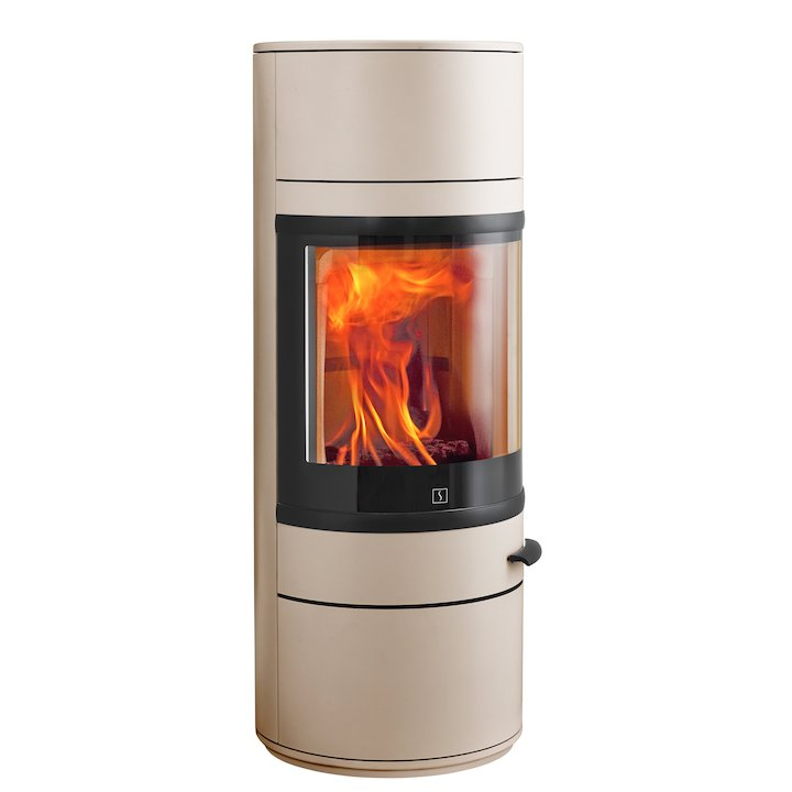 Scan 83 Wood Stove Champagne Black Trim - Champagne
