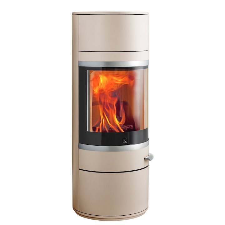 Scan 83 Wood Stove Champagne Silver Trim - Champagne