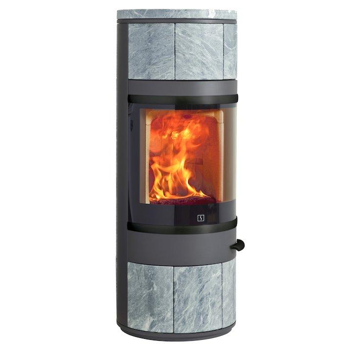 Scan 83 Wood Stove Grey/Soapstone Black Trim - Grey / Soapstone
