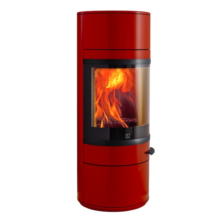 Scan 83 Wood Stove Red Black Trim - Red