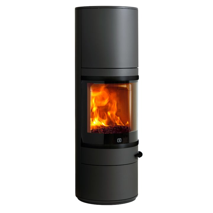 Scan 83 Maxi Wood Stove Black Black Trim - Black