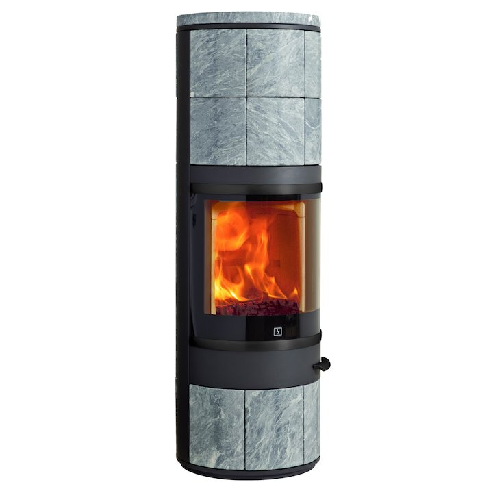 Scan 83 Maxi Wood Stove Black/Soapstone Black Trim - Black / Soapstone