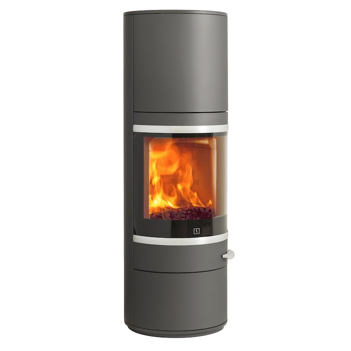 Scan 83 Maxi Wood Stove Grey Silver Trim - Grey