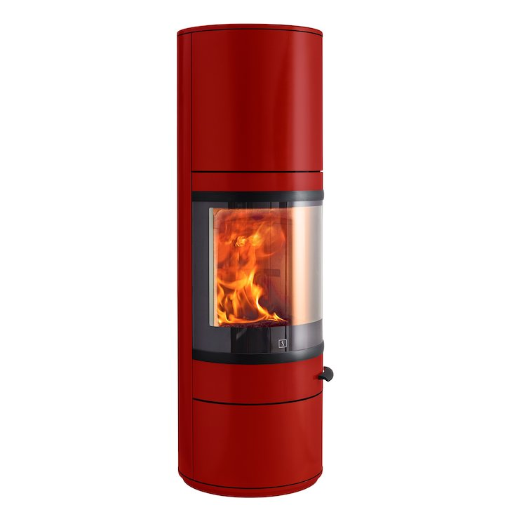 Scan 83 Maxi Wood Stove Red Black Trim - Red