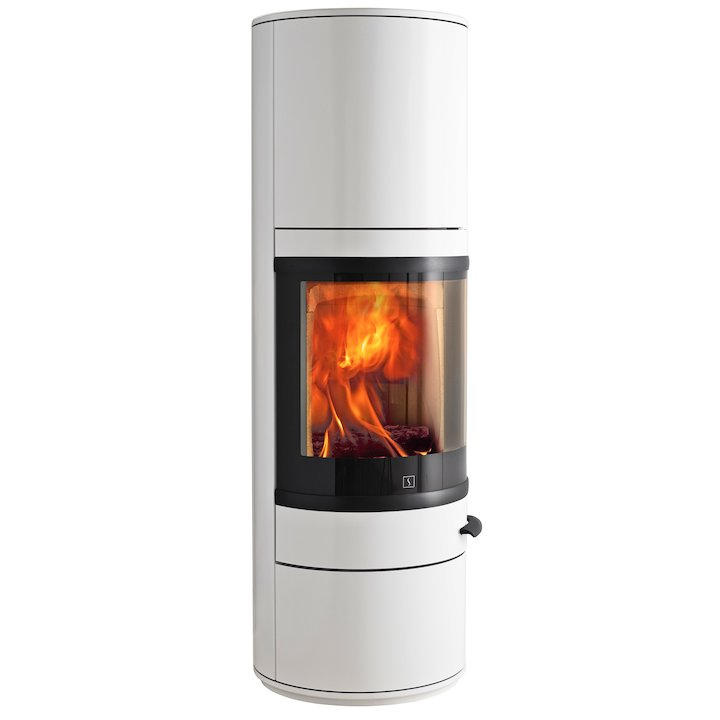 Scan 83 Maxi Wood Stove White Black Trim - White
