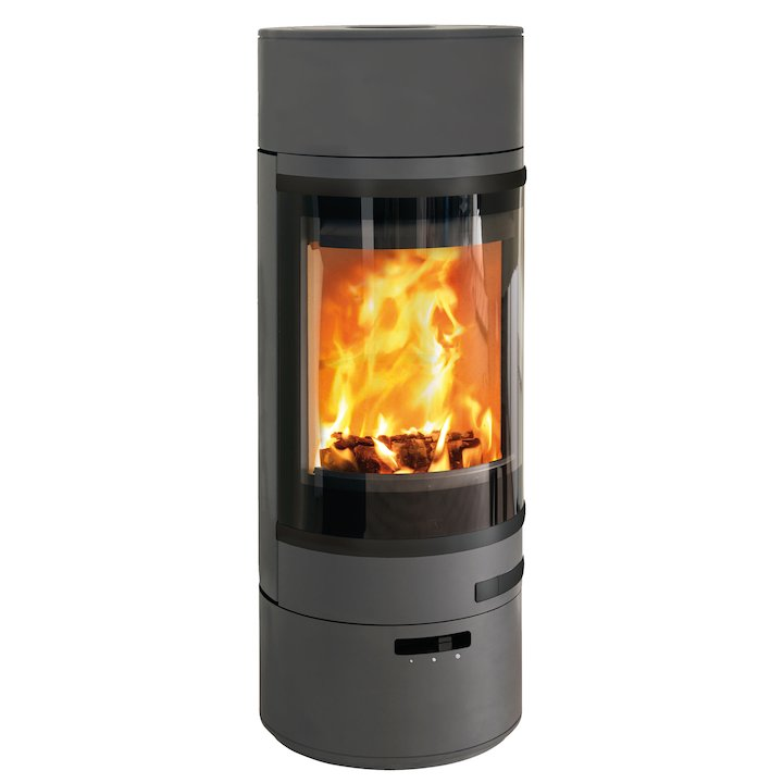 Scan 85 LL Wood Stove Grey Black Trim - Grey