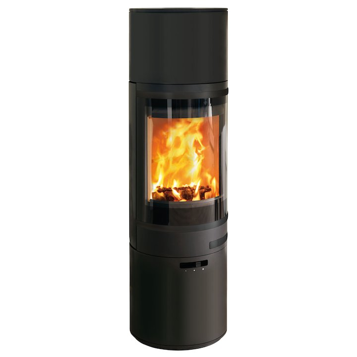 Scan 85 Maxi HH Wood Stove Black Black Trim - Black