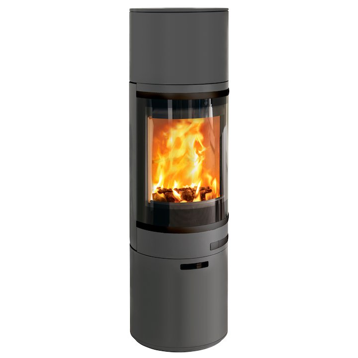Scan 85 Maxi HH Wood Stove Grey Black Trim - Grey