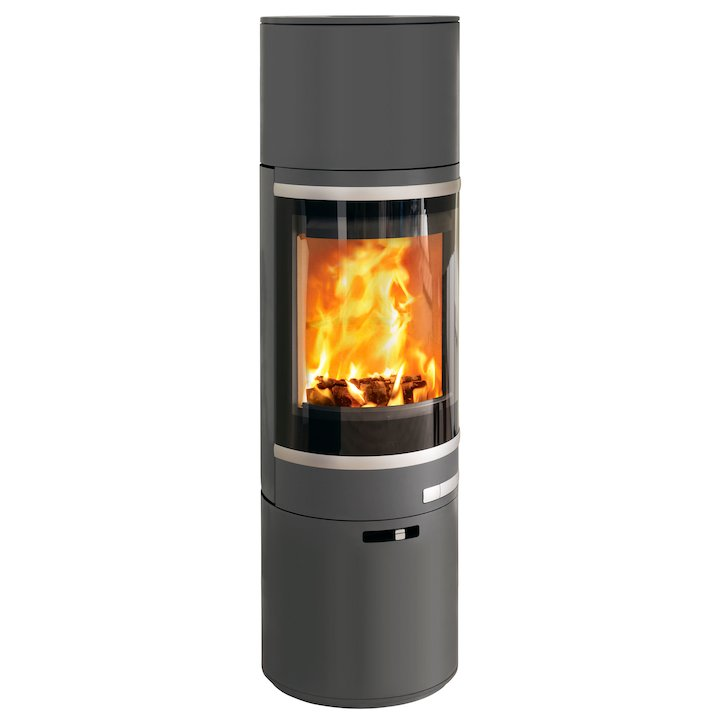 Scan 85 Maxi HH Wood Stove Grey Silver Trim - Grey