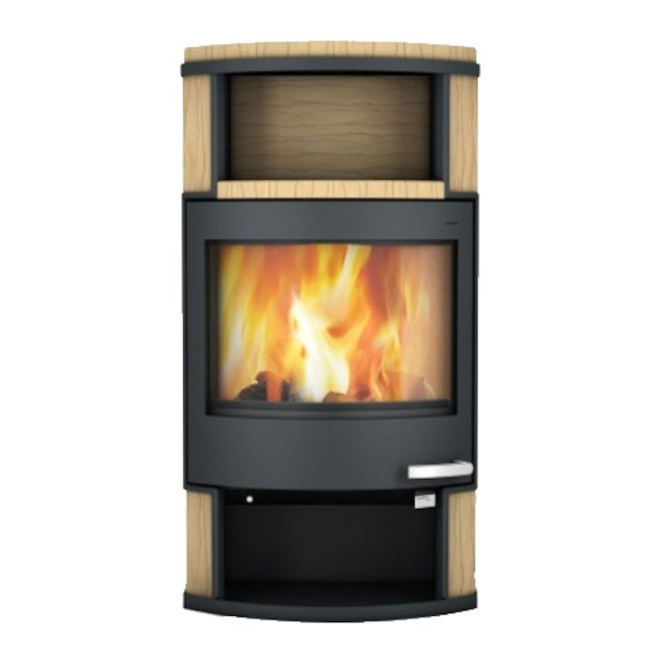 Skantherm Ator Wood Stove Yellow Sandstone Black Trim - Yellow Sandstone