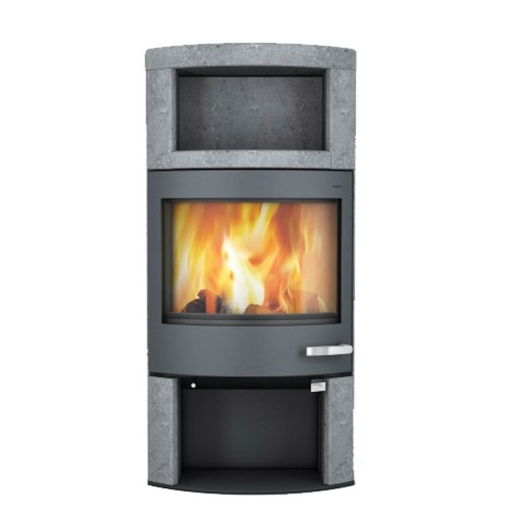 Skantherm Ator Plus Wood Stove Soapstone Grey Trim - Soapstone