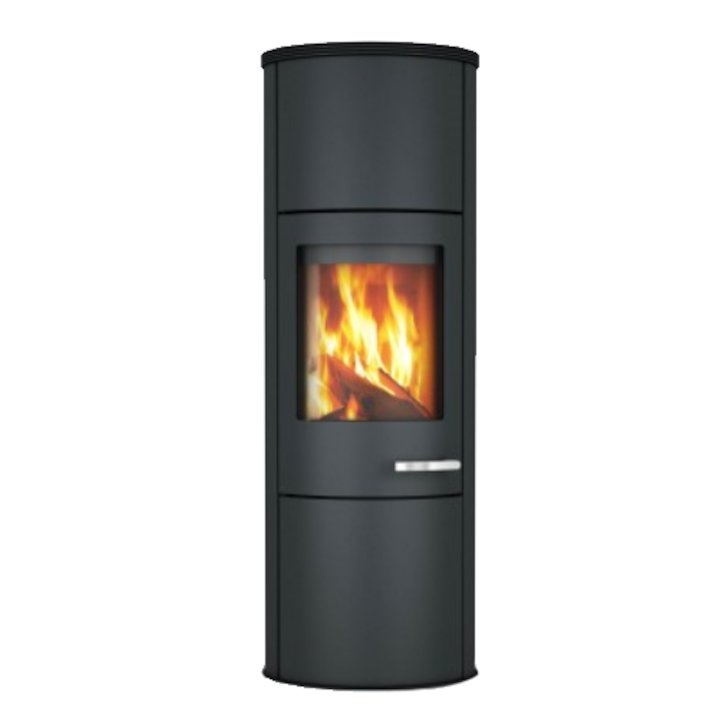 Skantherm Merano XL Wood Stove Black Black Trim - Black