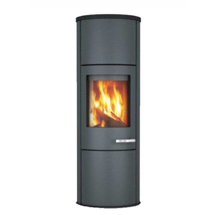 Skantherm Merano XL Wood Stove Grey Grey Trim - Grey