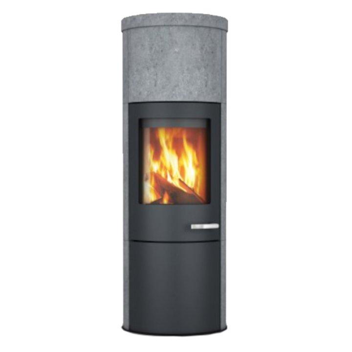 Skantherm Merano XL Wood Stove Soapstone Black Trim - Soapstone
