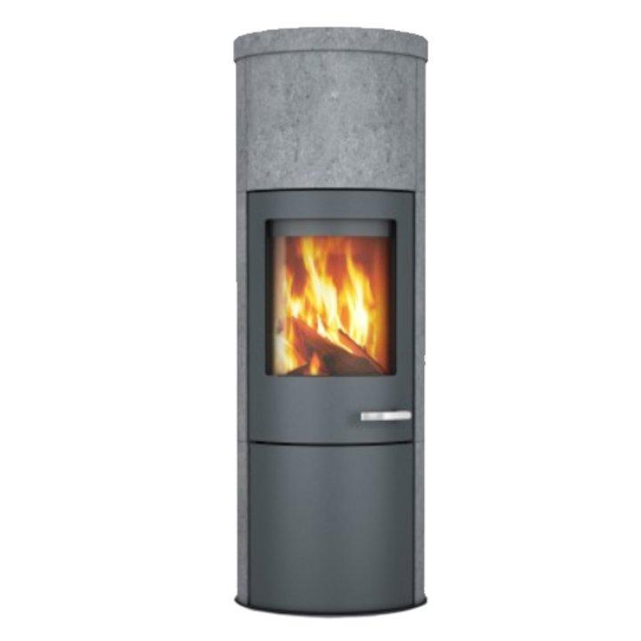 Skantherm Merano XL Wood Stove Soapstone Grey Trim - Soapstone