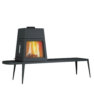 Skantherm Shaker Long Wood Stove