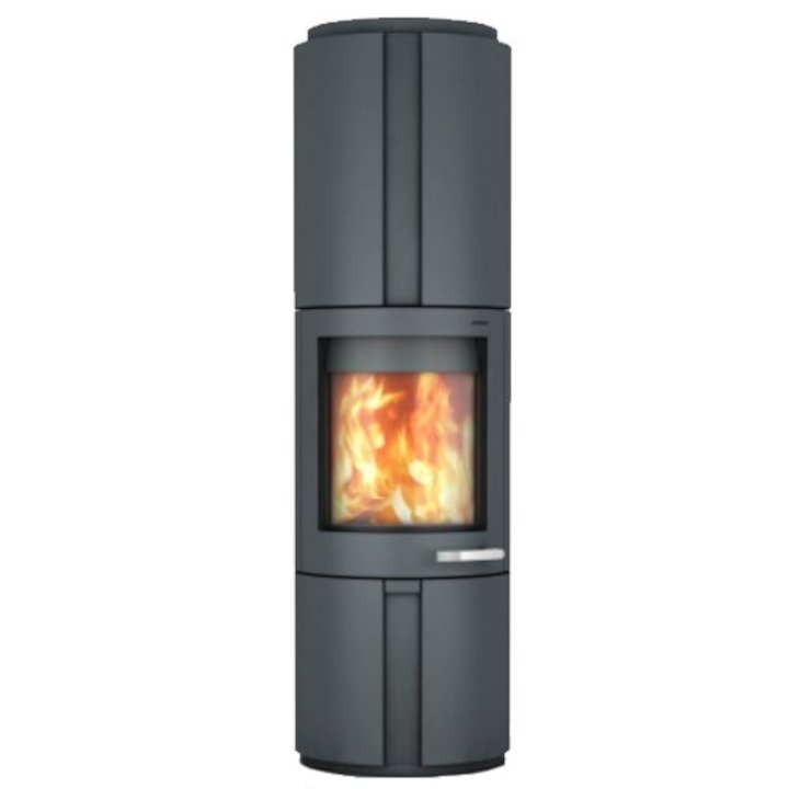 Skantherm Solo Wood Stove Grey Rotating Recessed - Grey