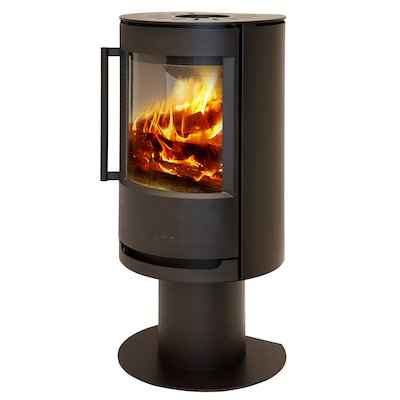 Wiking Luma Pedestal Wood Stove Black Solid Sides