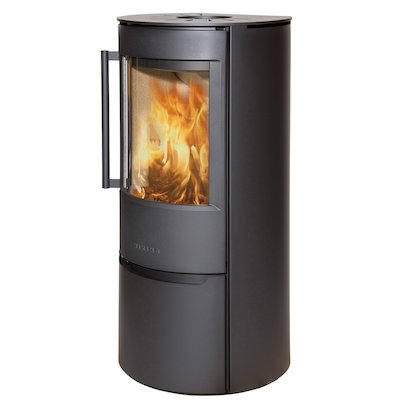 Wiking Luma Logstore Wood Stove Black Solid Sides