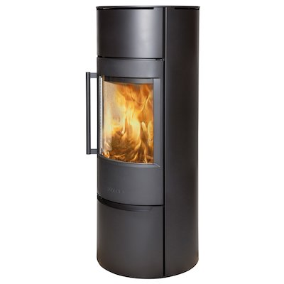 Wiking Luma Tall Wood Stove Black Solid Sides