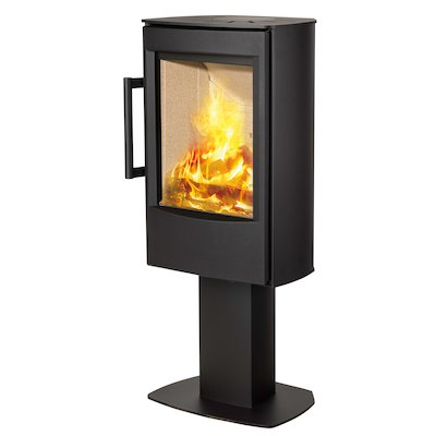 Wiking Miro Pedestal Wood Stove Black Solid Sides