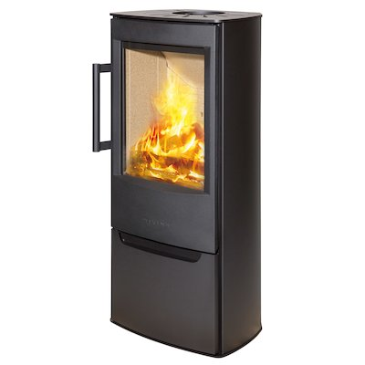 Wiking Miro Logstore Wood Stove Black Solid Sides