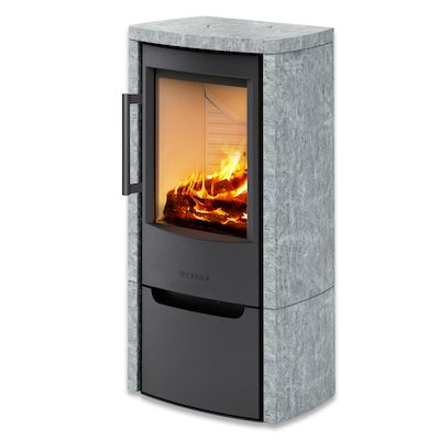 Wiking Miro Logstore Wood Stove Soapstone Solid Sides