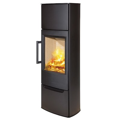Wiking Miro Tall Wood Stove Black Solid Sides
