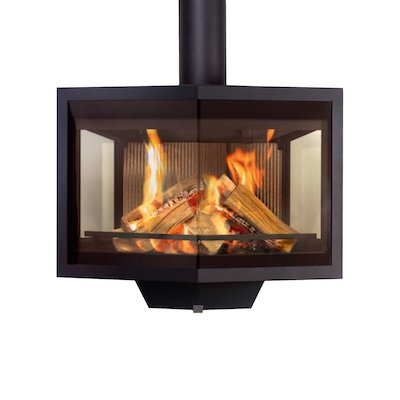 Wanders Black Diamond Wall Mounted Wood Stove