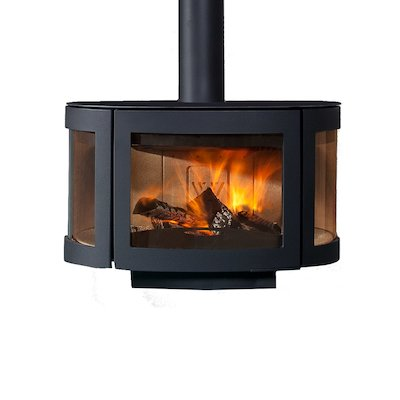 Wanders Black Pearl Wall Mounted Wood Stove