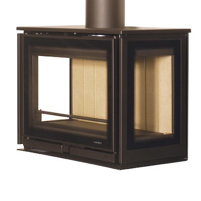 Wanders Square 60 Trilateral Wall Mounted Wall Stove