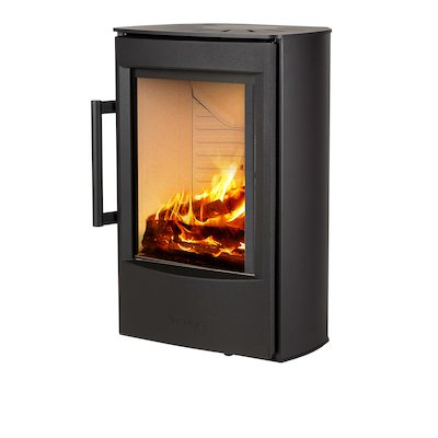Wiking Miro Wall Mounted Wood Stove Black Solid Sides