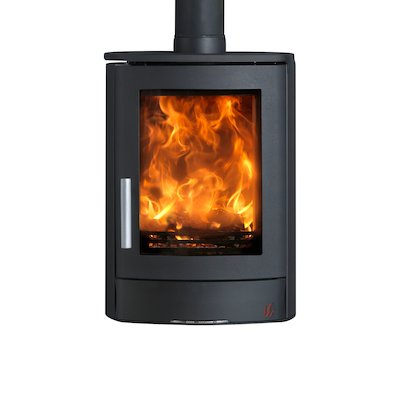 ACR Neo Wall Mounted Multifuel Stove Black Solid Sides