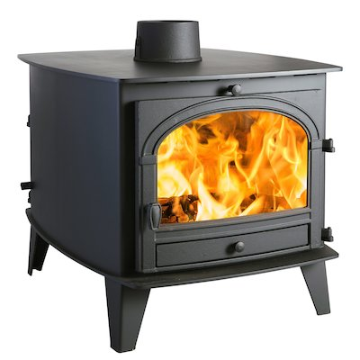 Parkray Consort 9 Double Sided Wood Stove - Double Depth Black Single Door