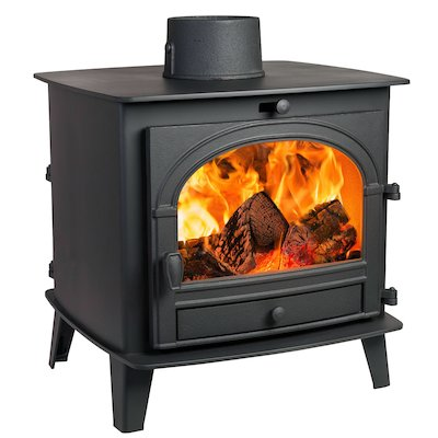 Parkray Consort 7 Double Sided Wood Stove Black Single Door