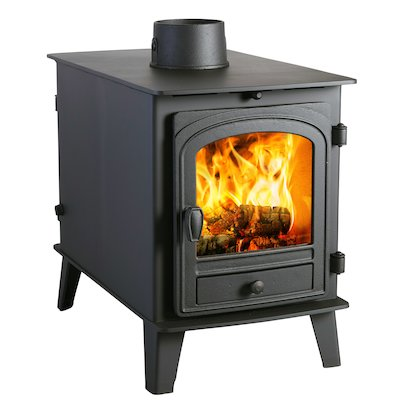 Parkray Consort 4 Double Sided Wood Stove - Double Depth Black Single Door