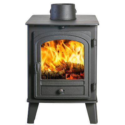 Parkray Consort 4 Double Sided Wood Stove Black Single Door