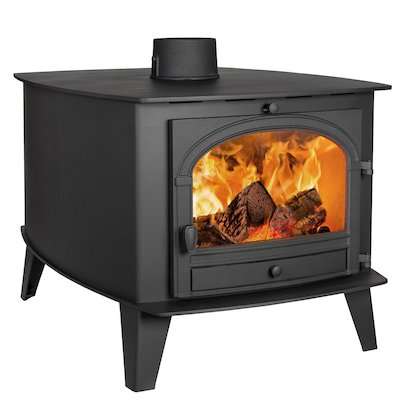 Parkray Consort 15 Double Sided Wood Stove - Double Depth Black Single Door