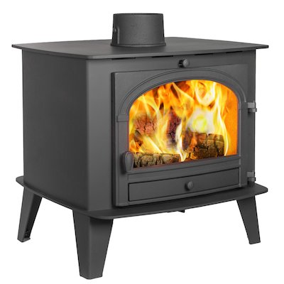 Parkray Consort 15 Double Sided Wood Stove Black Single Door