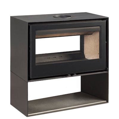 Rocal Habit 100 DC Logstore Double Sided Wood Stove