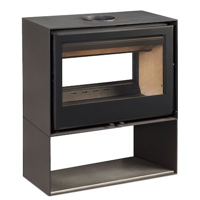 Rocal Habit 80 DC Logstore Double Sided Wood Stove