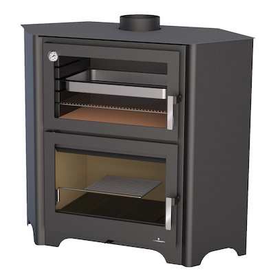 Bronpi Murano-R Wood Cooking Stove - With Oven