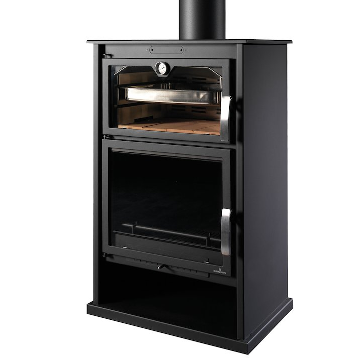 Bronpi Suiza Wood Stove - With Oven - Black